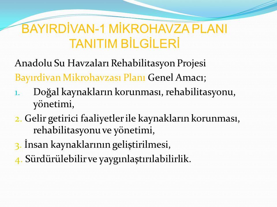 BAYIRDİVAN-1 MİKROHAVZA PLANI TANITIM BİLGİLERİ
