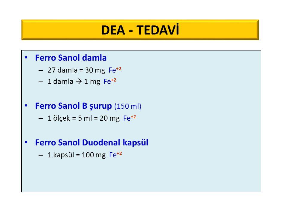 DEA - TEDAVİ Ferro Sanol damla Ferro Sanol B şurup (150 ml)