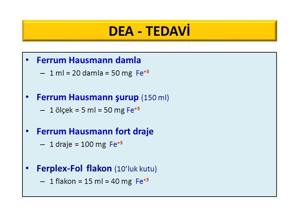 DEA - TEDAVİ Ferrum Hausmann damla Ferrum Hausmann şurup (150 ml)