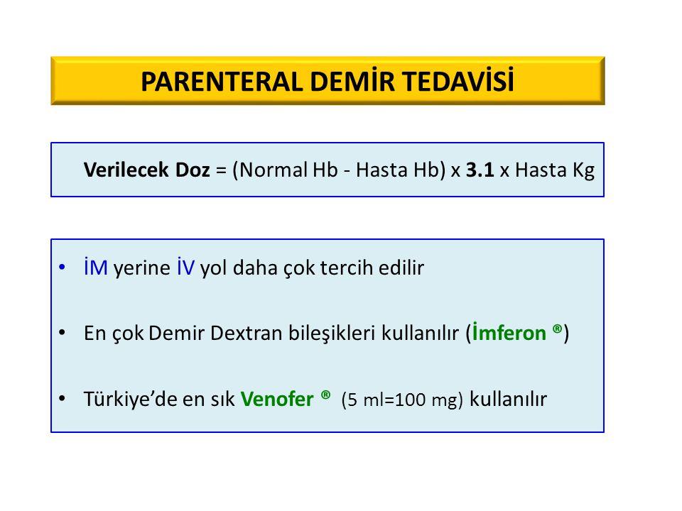 PARENTERAL DEMİR TEDAVİSİ