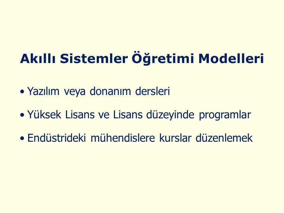 Akıllı Sistemler Öğretimi Modelleri