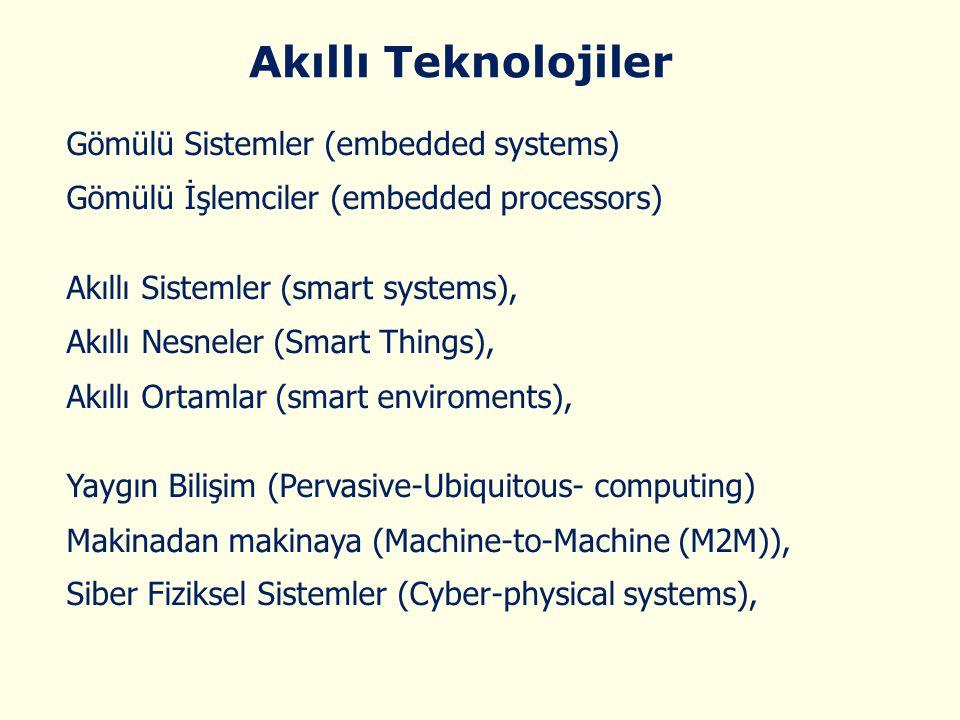 Akıllı Teknolojiler Gömülü Sistemler (embedded systems)