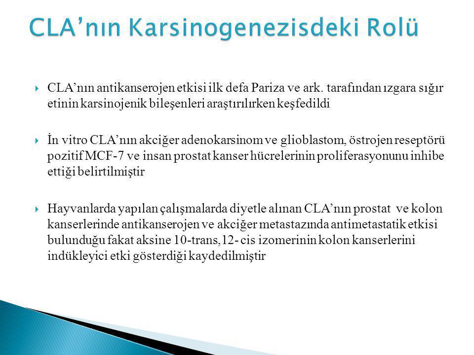 CLA'nın Karsinogenezisdeki Rolü