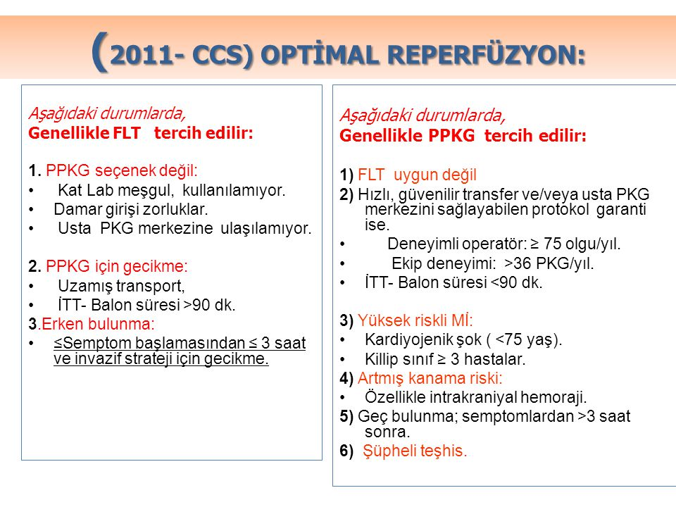 (2011- CCS) OPTİMAL REPERFÜZYON: