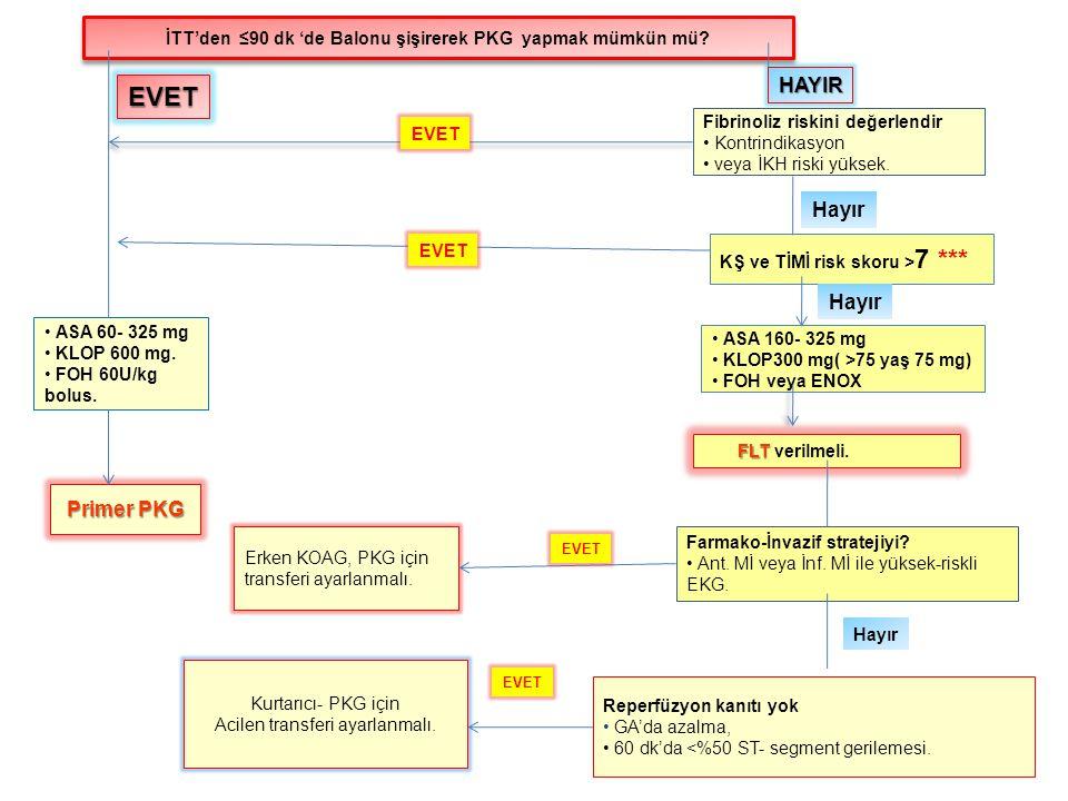İTT'den ≤90 dk 'de Balonu şişirerek PKG yapmak mümkün mü