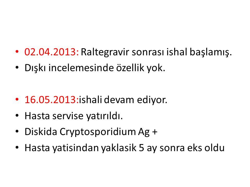 02.04.2013: Raltegravir sonrası ishal başlamış.