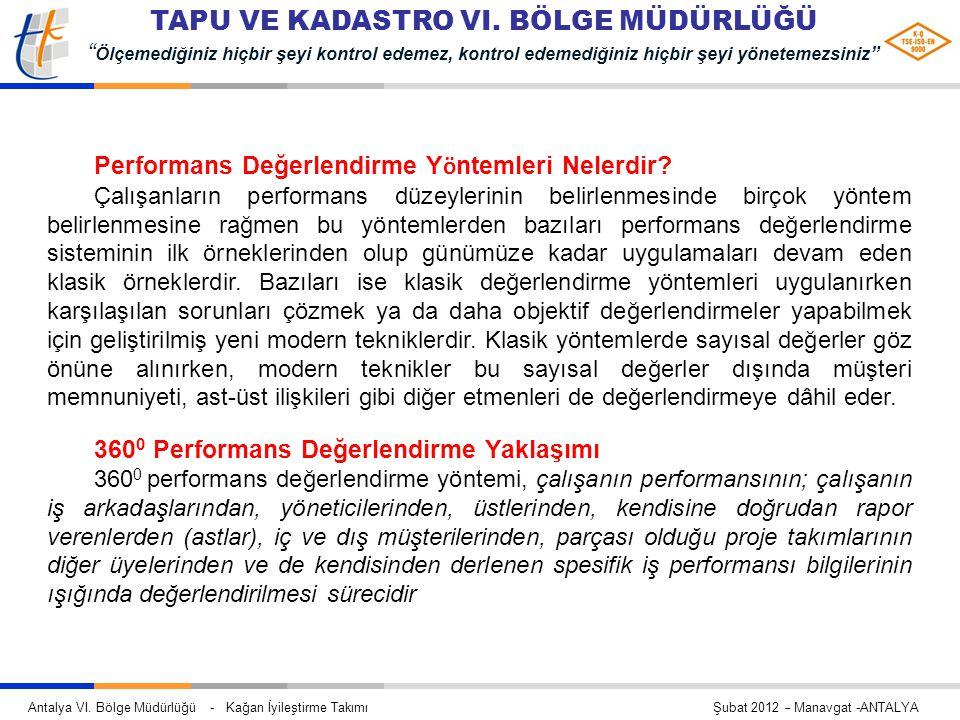 Performans Değerlendirme Yöntemleri Nelerdir