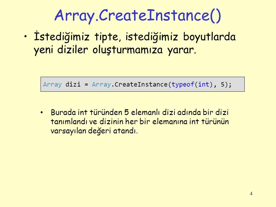 Array.CreateInstance()
