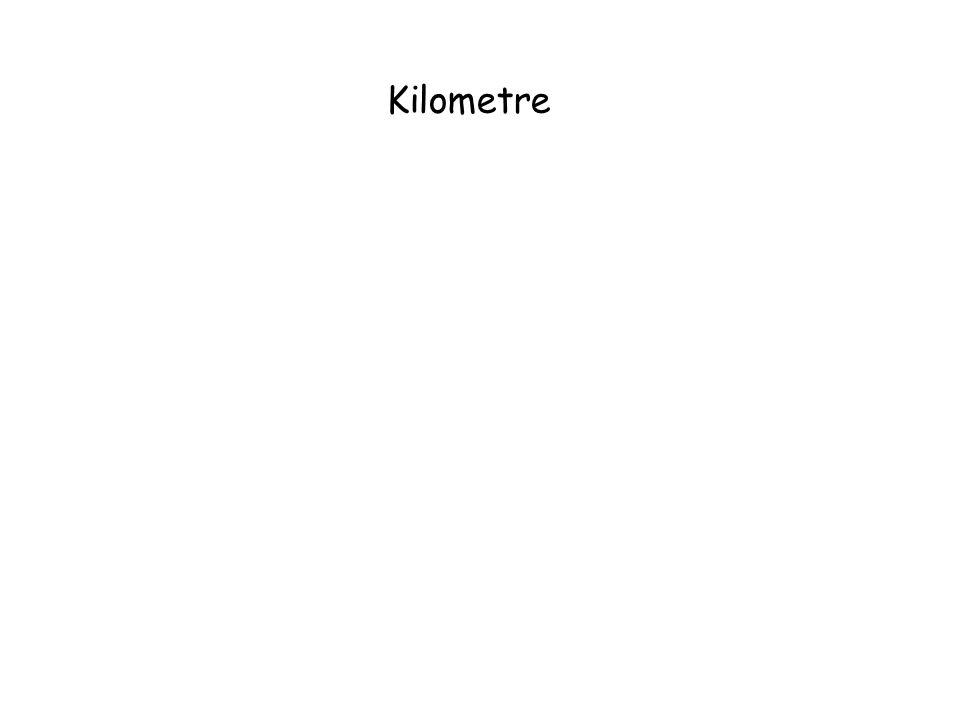 Kilometre 1 kilometre = 1000 metre dir.Kilometre km sembolü ile gösterilir. 1 km = 1000 m 2 km = 2000 m.