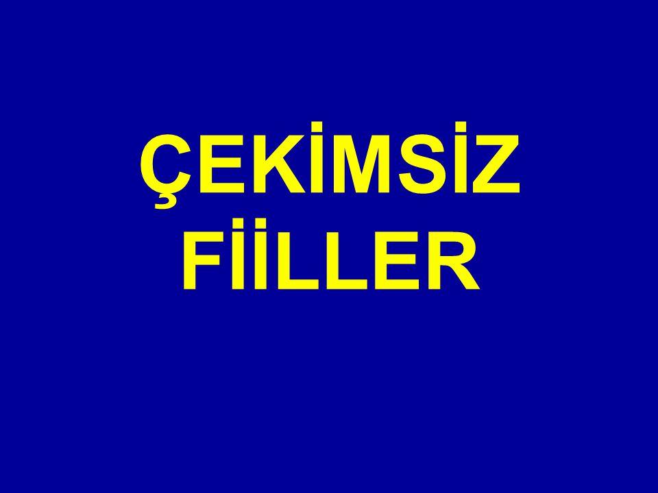 ÇEKİMSİZ FİİLLER