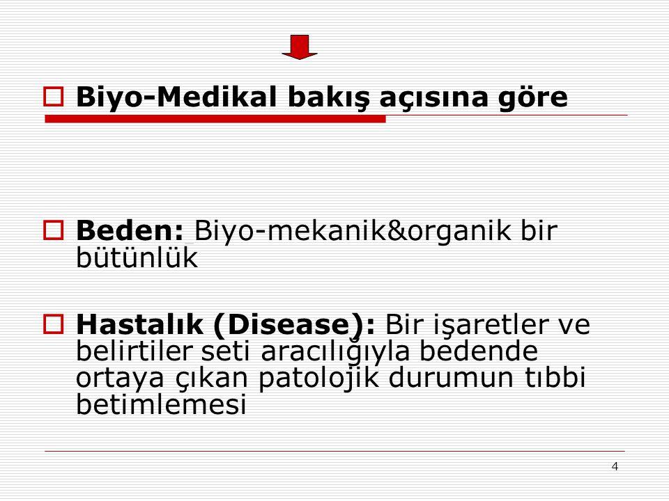 Biyo-Medikal bakış açısına göre