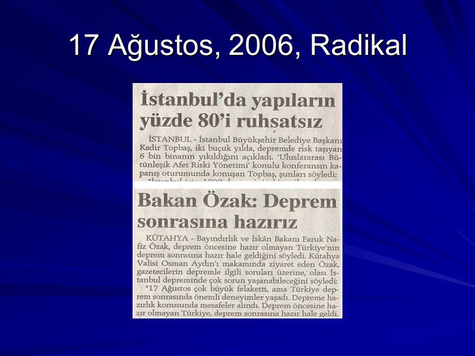 17 Ağustos, 2006, Radikal