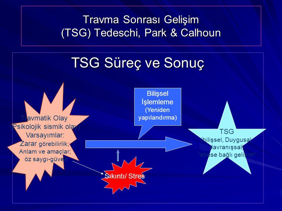 Travma Sonrası Gelişim (TSG) Tedeschi, Park & Calhoun