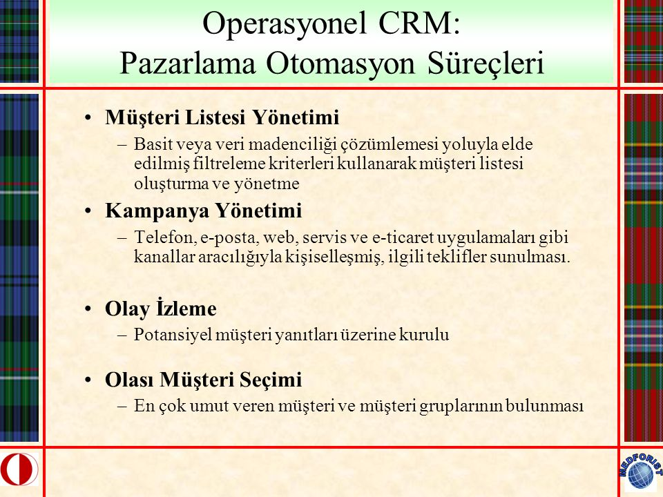 Operasyonel CRM: Pazarlama Otomasyon Süreçleri