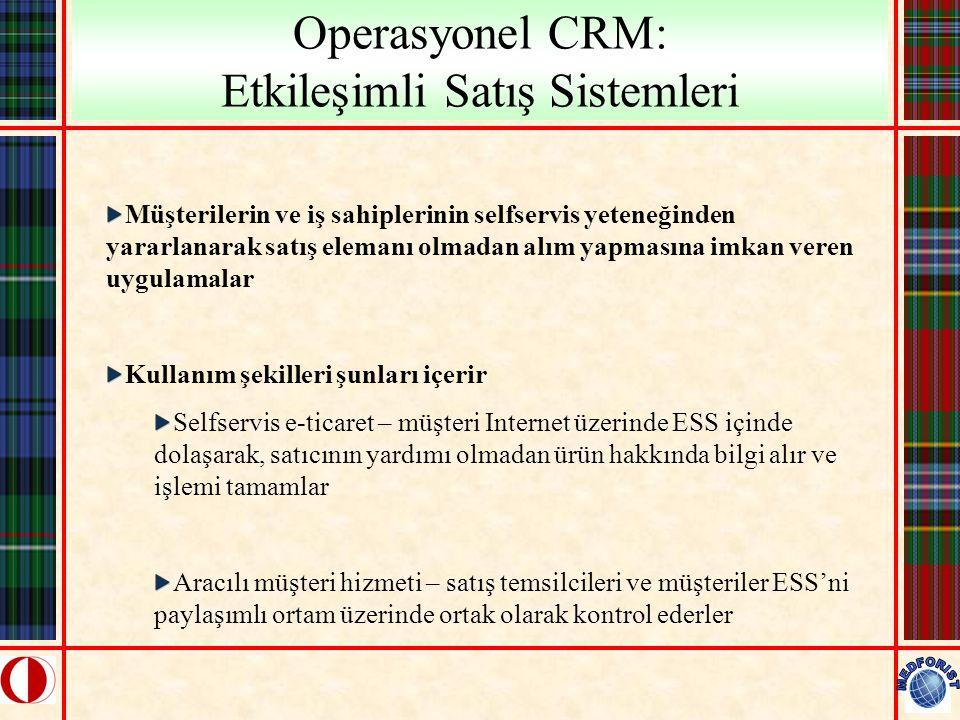 Operasyonel CRM: Etkileşimli Satış Sistemleri