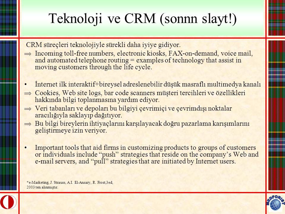 Teknoloji ve CRM (sonnn slayt!)