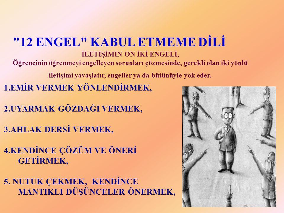 İLETİŞİMİN ON İKİ ENGELİ,