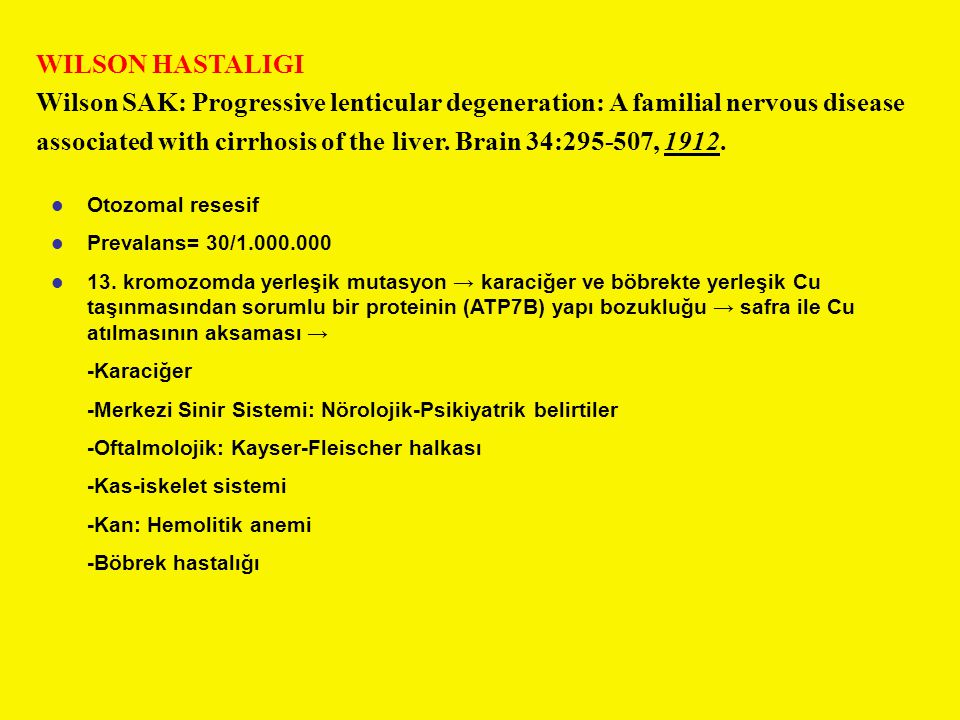 associated with cirrhosis of the liver. Brain 34:295-507, 1912.