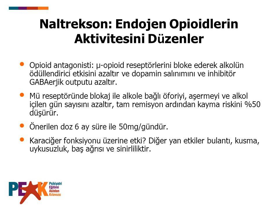 Naltrekson: Endojen Opioidlerin Aktivitesini Düzenler