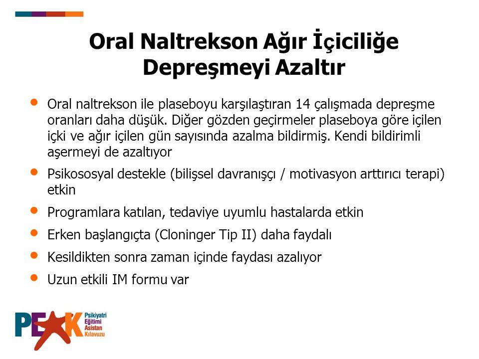 Oral Naltrekson Ağır İçiciliğe Depreşmeyi Azaltır