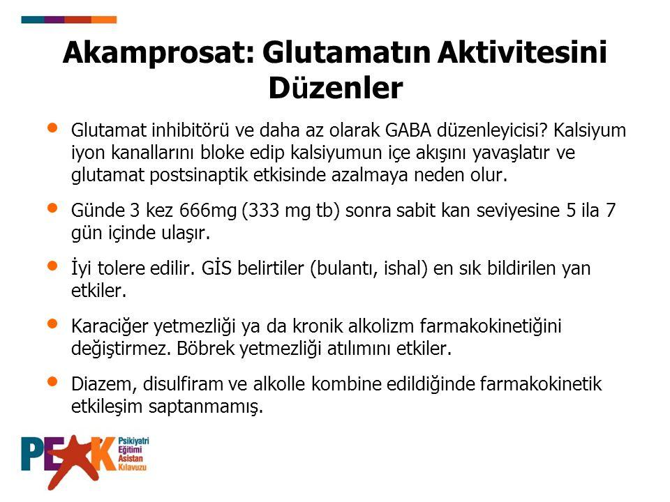Akamprosat: Glutamatın Aktivitesini Düzenler