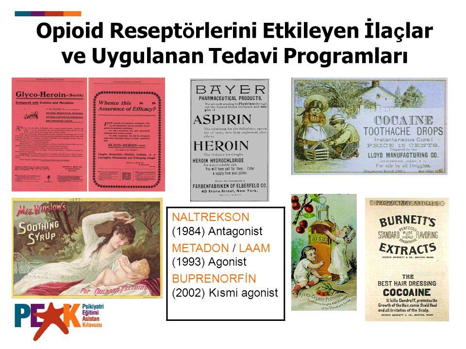Opioid Reseptörlerini Etkileyen İlaçlar ve Uygulanan Tedavi Programları