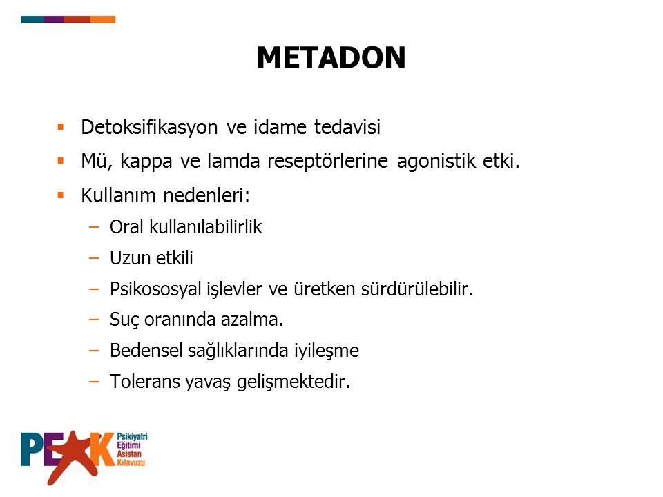 METADON Detoksifikasyon ve idame tedavisi