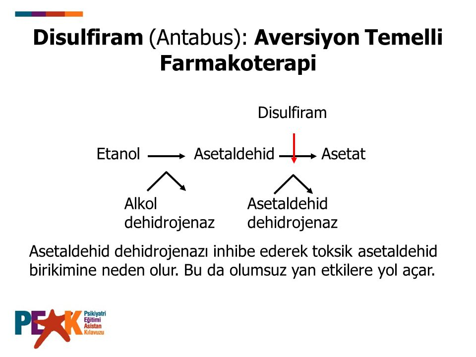 Disulfiram (Antabus): Aversiyon Temelli Farmakoterapi