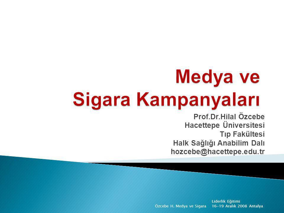 Medya ve Sigara Kampanyaları