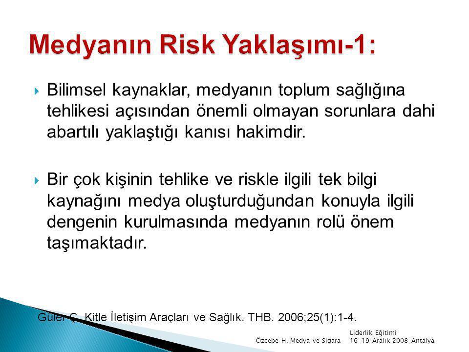 Medyanın Risk Yaklaşımı-1:
