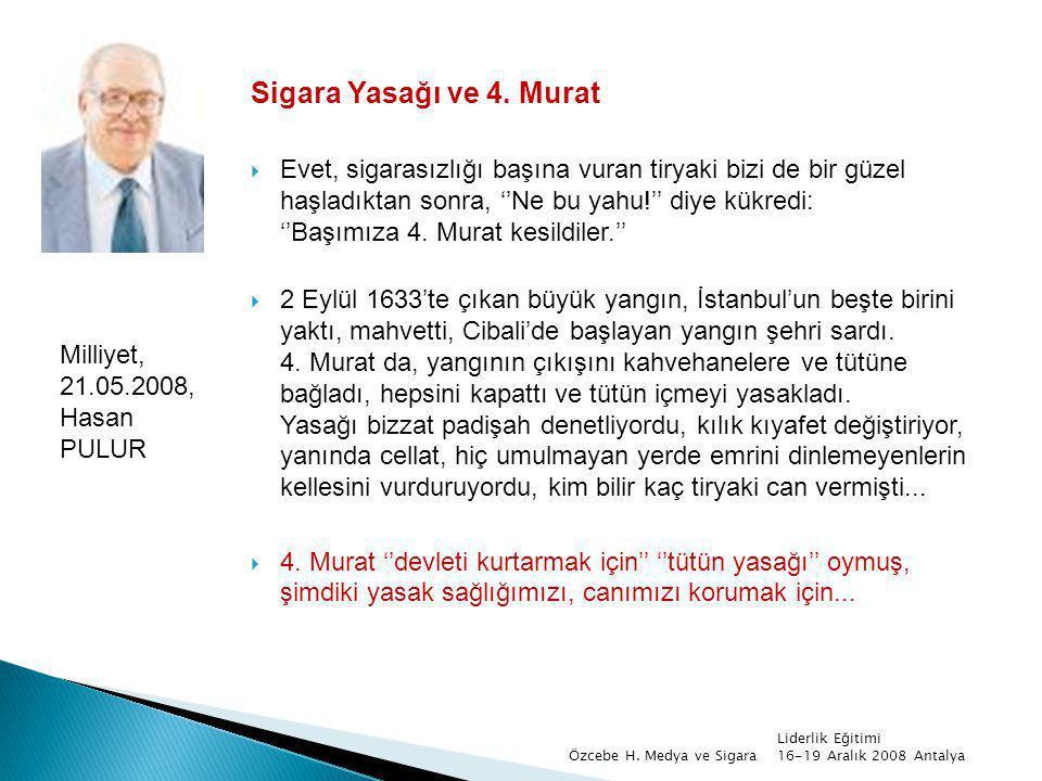 Sigara Yasağı ve 4. Murat