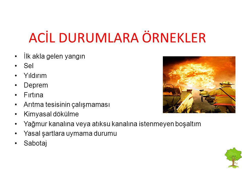 ACİL DURUMLARA ÖRNEKLER