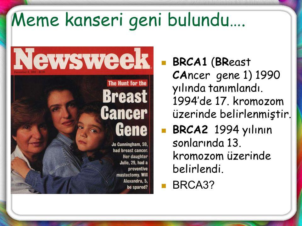 Meme kanseri geni bulundu….