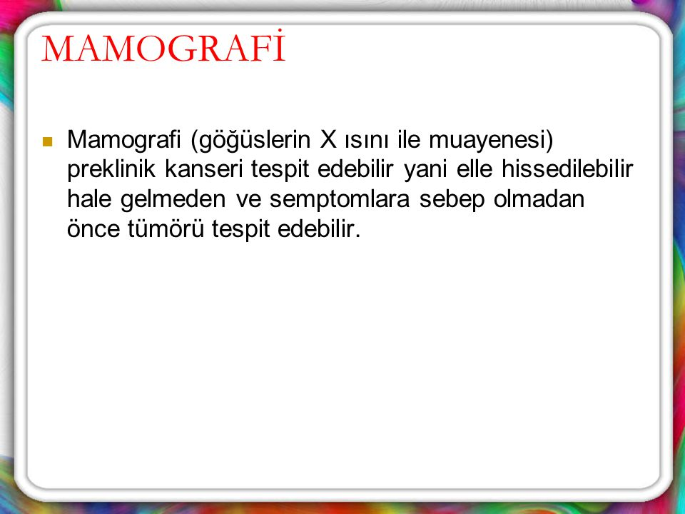 MAMOGRAFİ