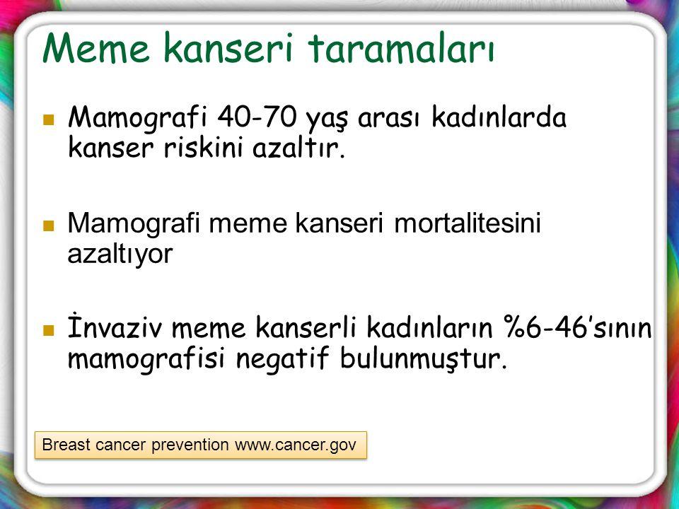 Meme kanseri taramaları