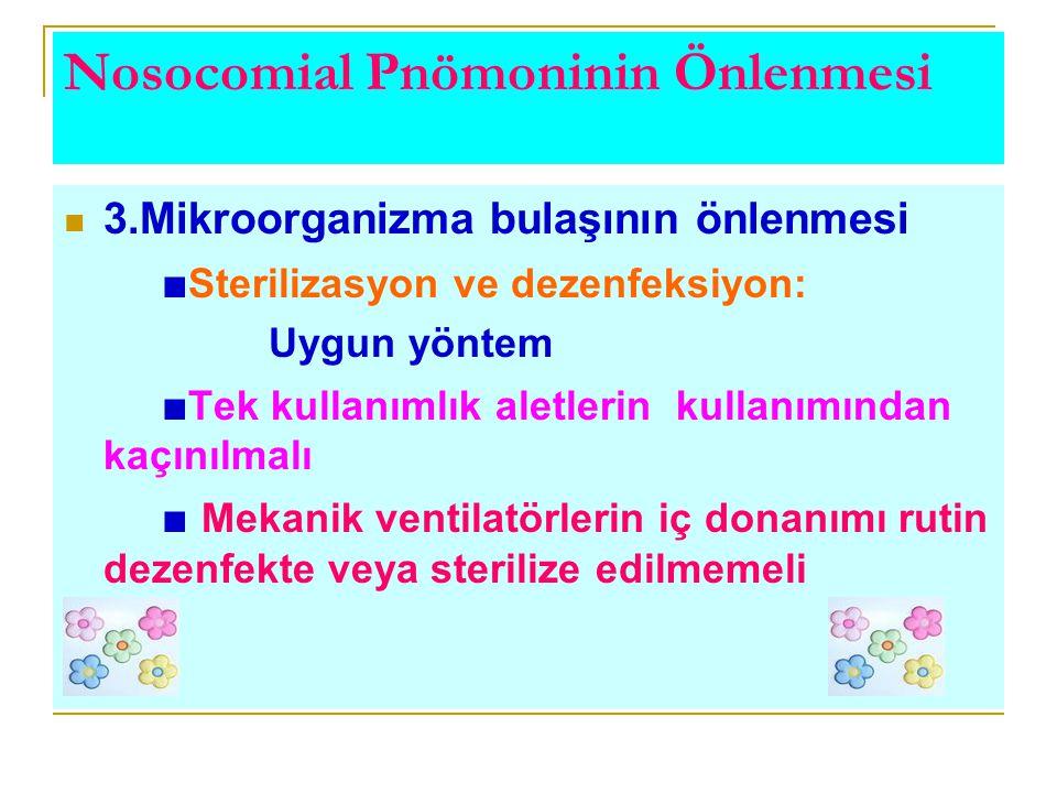 Nosocomial Pnömoninin Önlenmesi