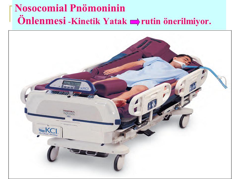 Nosocomial Pnömoninin Önlenmesi -Kinetik Yatak rutin önerilmiyor.