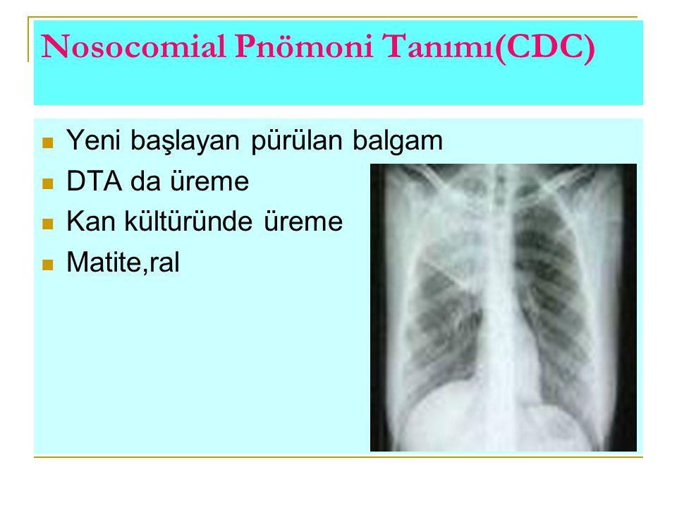 Nosocomial Pnömoni Tanımı(CDC)