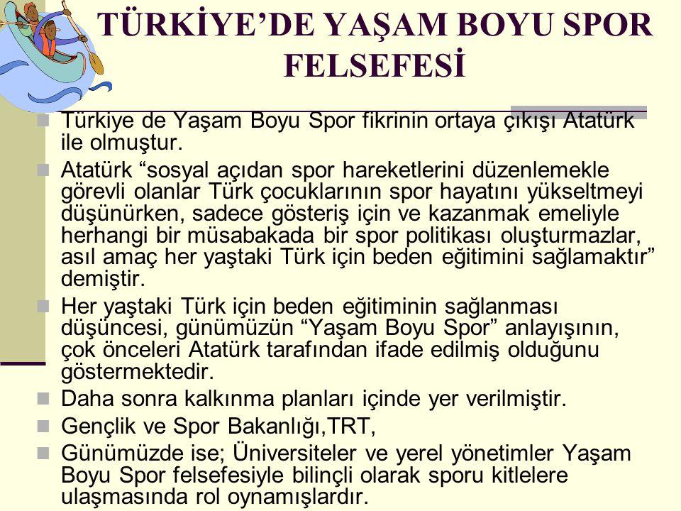 TÜRKİYE'DE YAŞAM BOYU SPOR FELSEFESİ