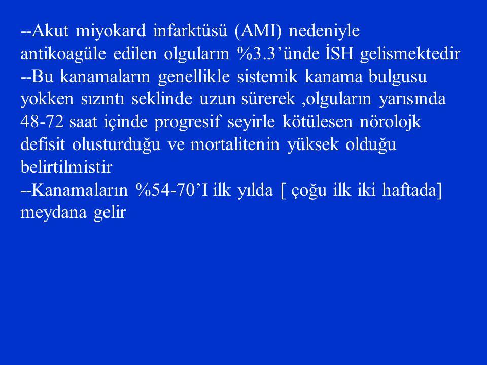 --Akut miyokard infarktüsü (AMI) nedeniyle