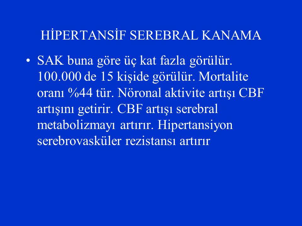 HİPERTANSİF SEREBRAL KANAMA