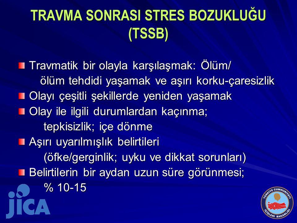TRAVMA SONRASI STRES BOZUKLUĞU (TSSB)