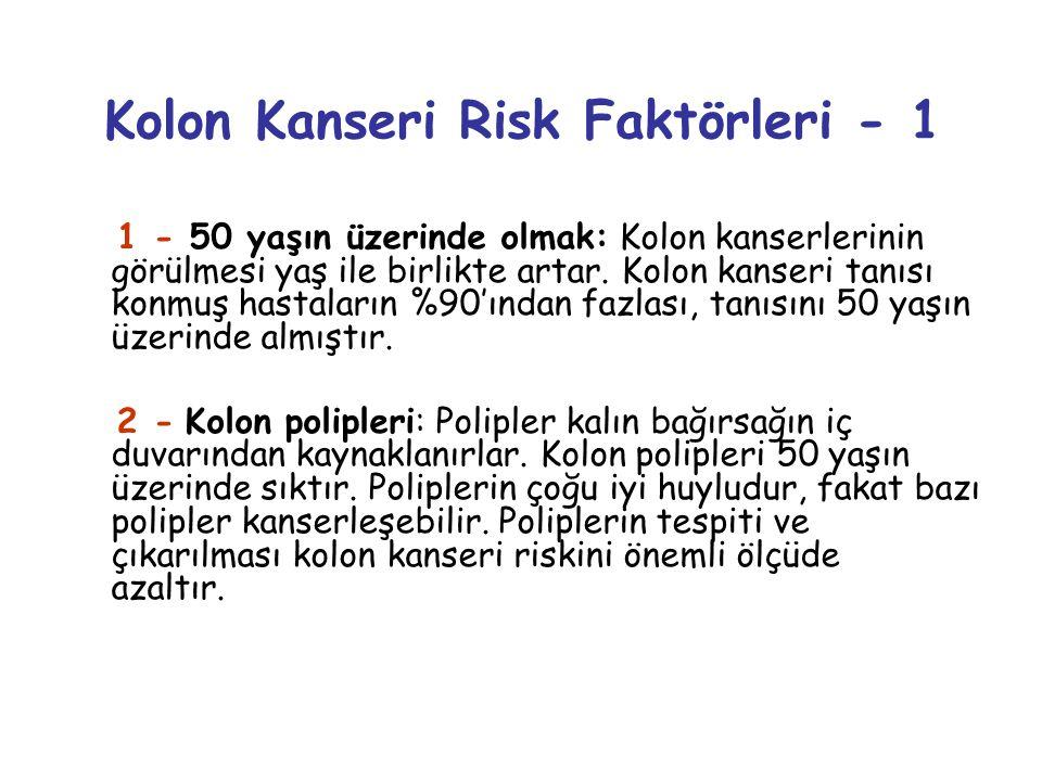 Kolon Kanseri Risk Faktörleri - 1
