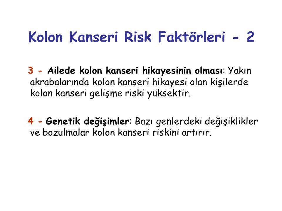 Kolon Kanseri Risk Faktörleri - 2