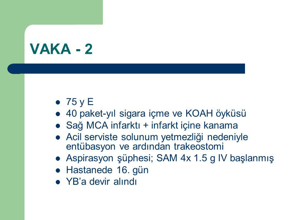 VAKA - 2 75 y E 40 paket-yıl sigara içme ve KOAH öyküsü