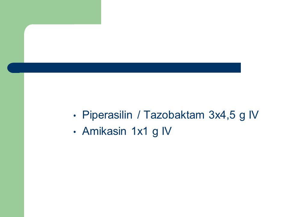 Piperasilin / Tazobaktam 3x4,5 g IV