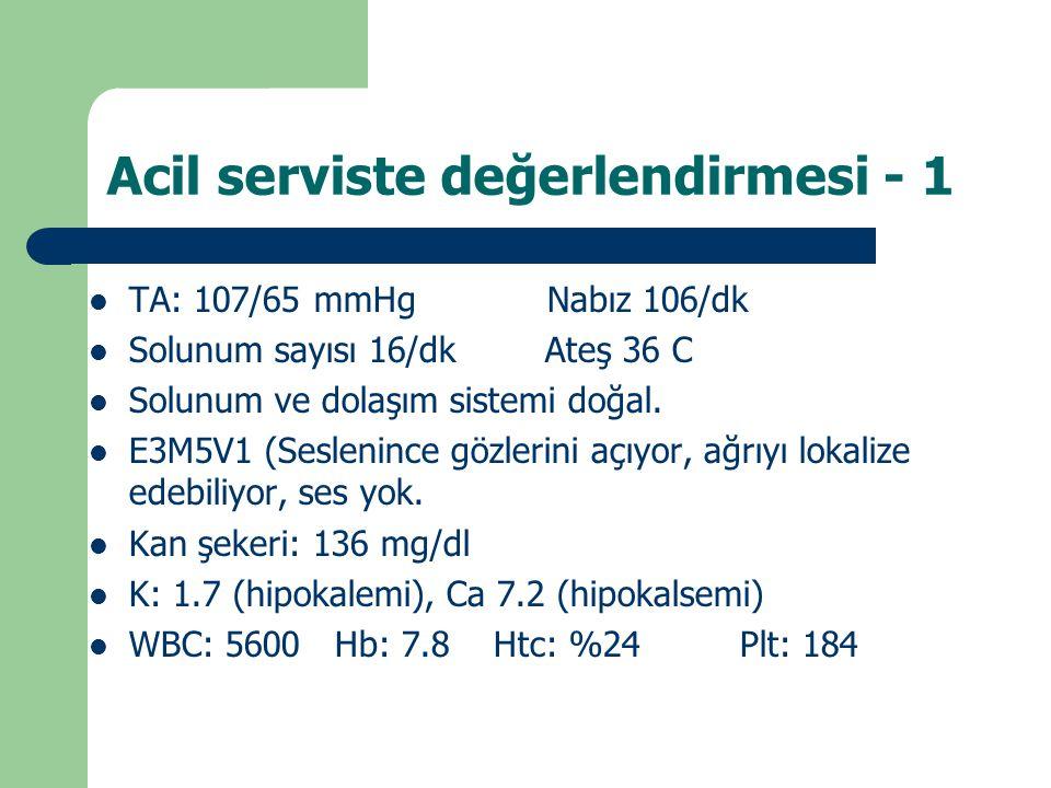 Acil serviste değerlendirmesi - 1