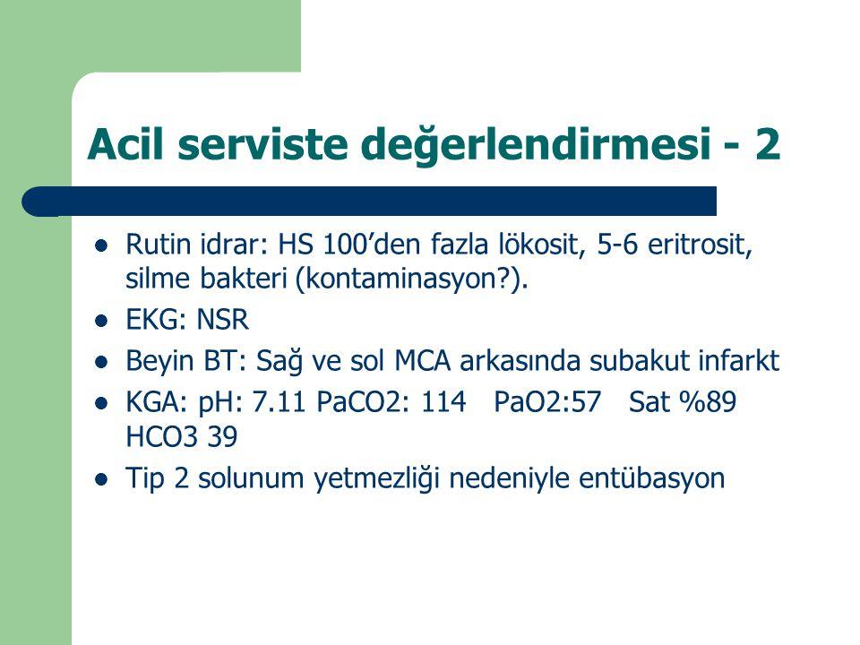Acil serviste değerlendirmesi - 2