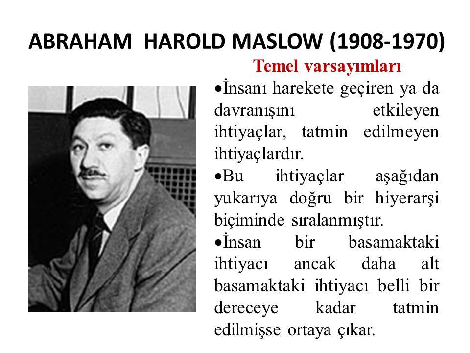 ABRAHAM HAROLD MASLOW (1908-1970)