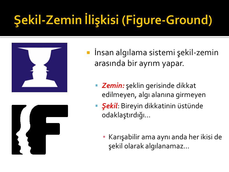 Şekil-Zemin İlişkisi (Figure-Ground)